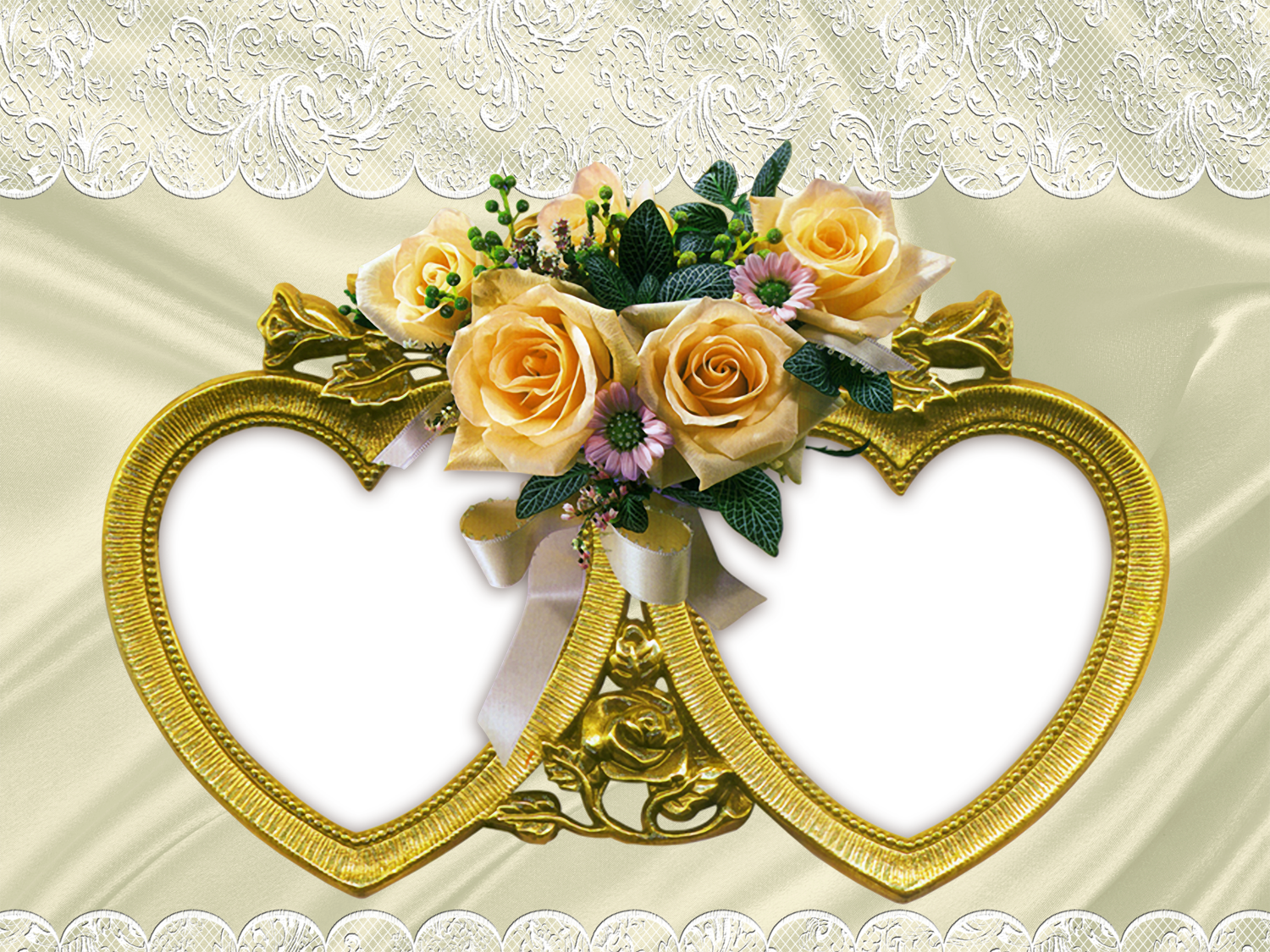 Yellow Rose clipart gold heart Two full Roses size View