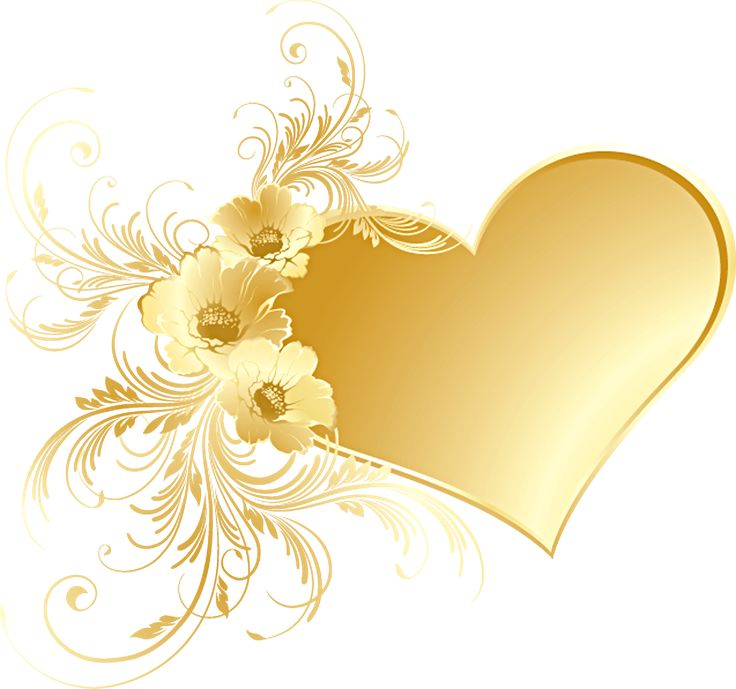 Yellow Rose clipart gold heart 21 Pinterest Heart AND with
