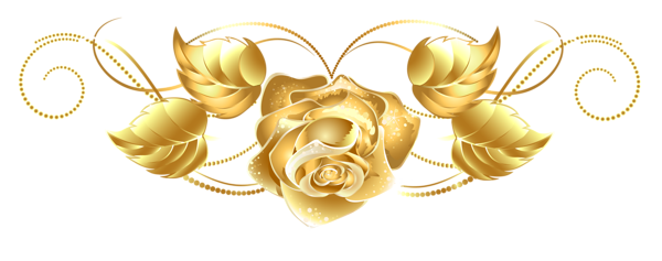 Beautiful clipart gold flower Clip on Gold Roses Download