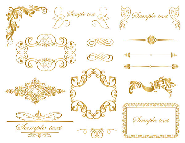 Scroll clipart gold Art Scrapbooking Art Download Swirl