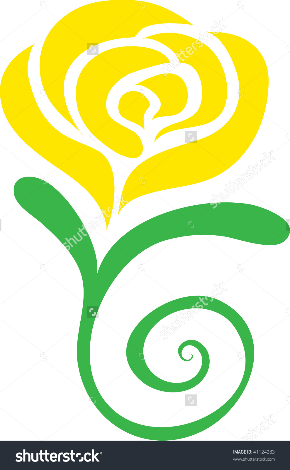 Yellow Rose clipart green rose Clip Download Clipart clip art