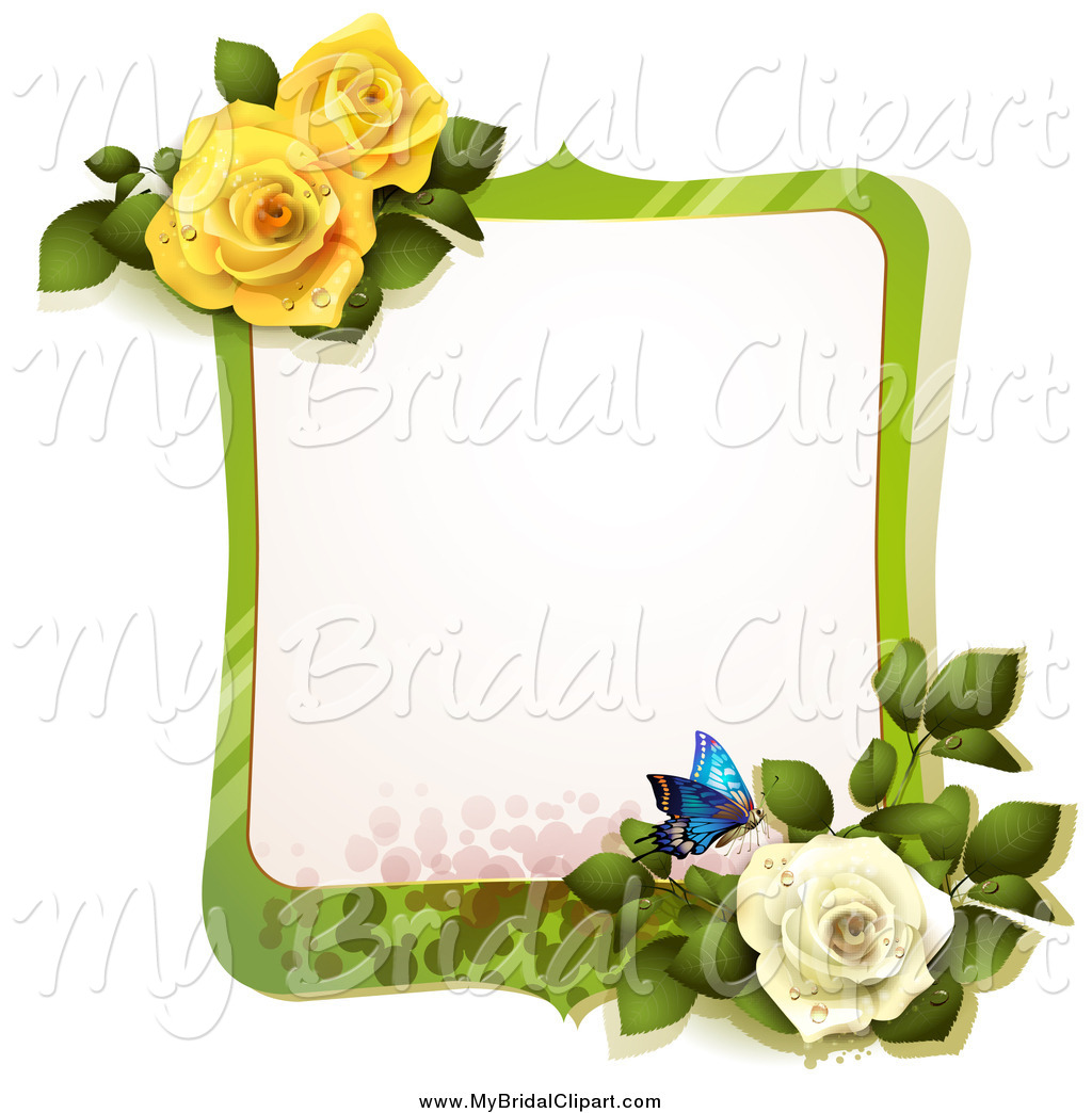Yellow Rose clipart green rose Designs Frame Royalty Butterfly Stock