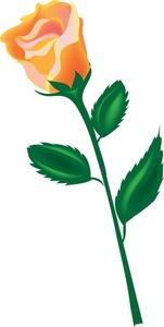 Yellow Rose clipart long stem #5