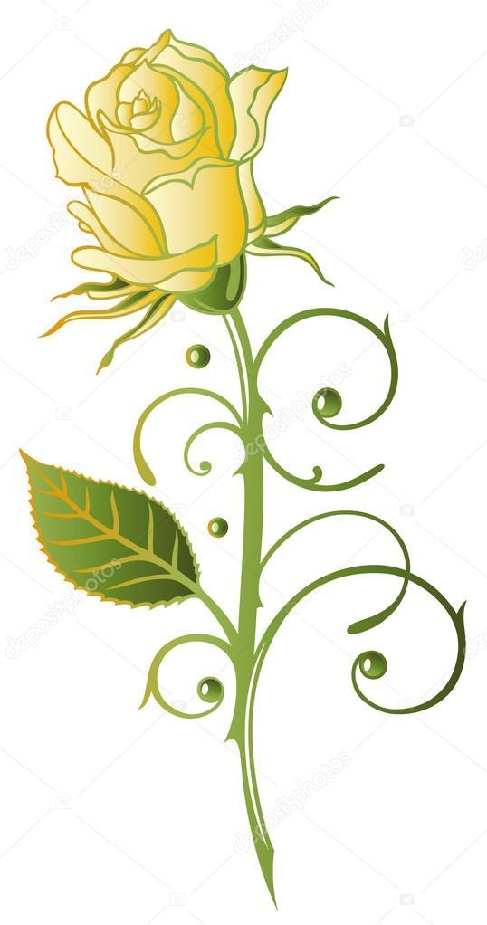 Yellow Rose clipart love flower Sign of — rose christine_krahl