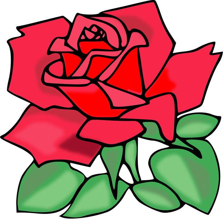 Yellow Rose clipart love flower Valentine Love Pinterest Rose images