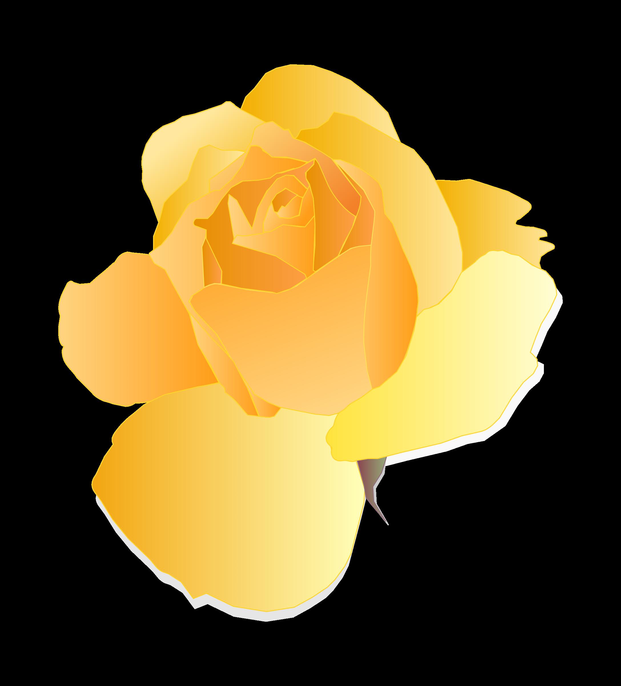 Yellow Rose clipart orange rose Rose Yellow Yellow Rose Clipart