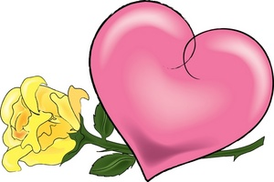 Pink Rose clipart pink heart Clipart Free Clip Border Rose