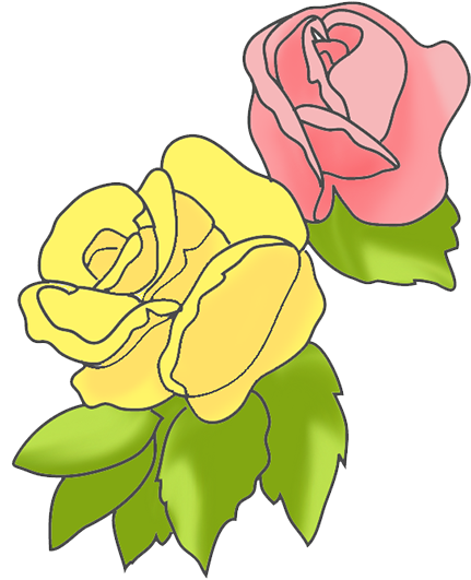 Pink clipart yellow flower And Flower rose yellow Pink