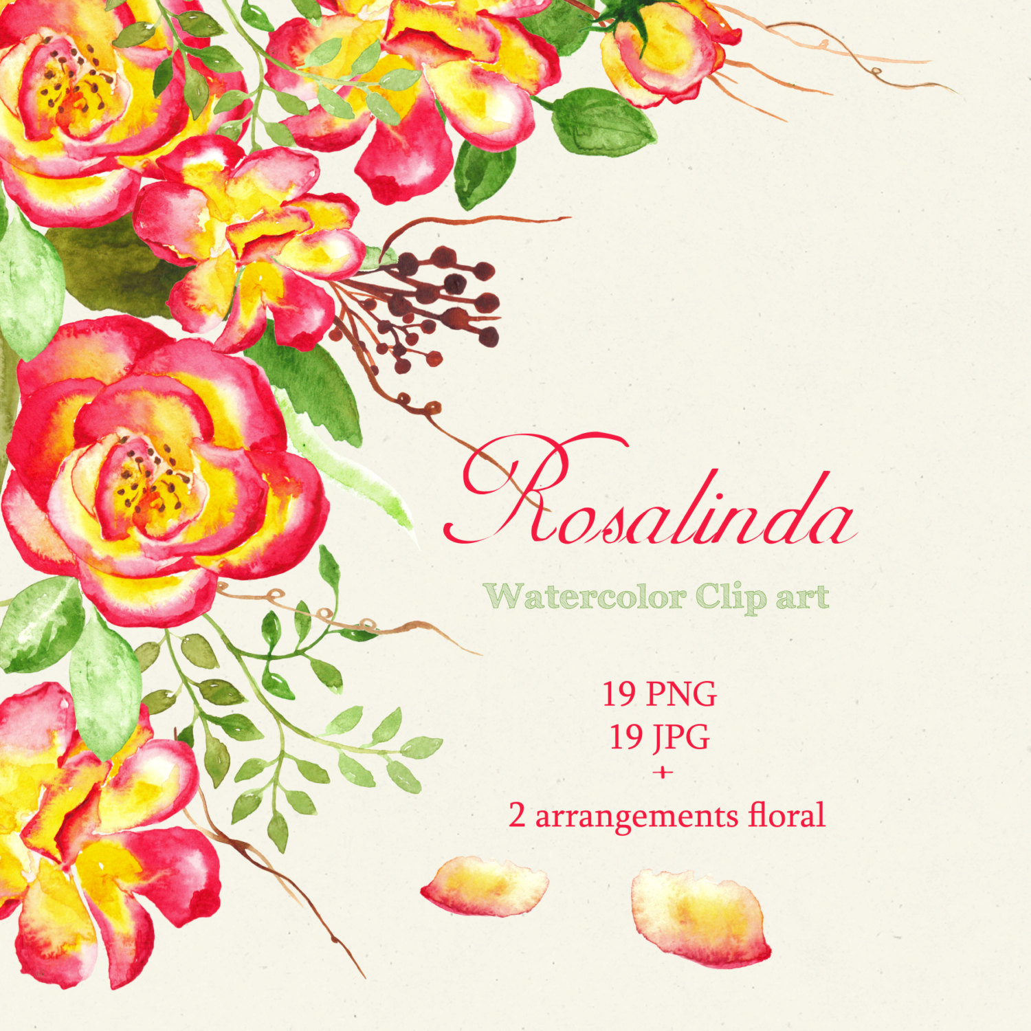 Yellow Rose clipart red #11