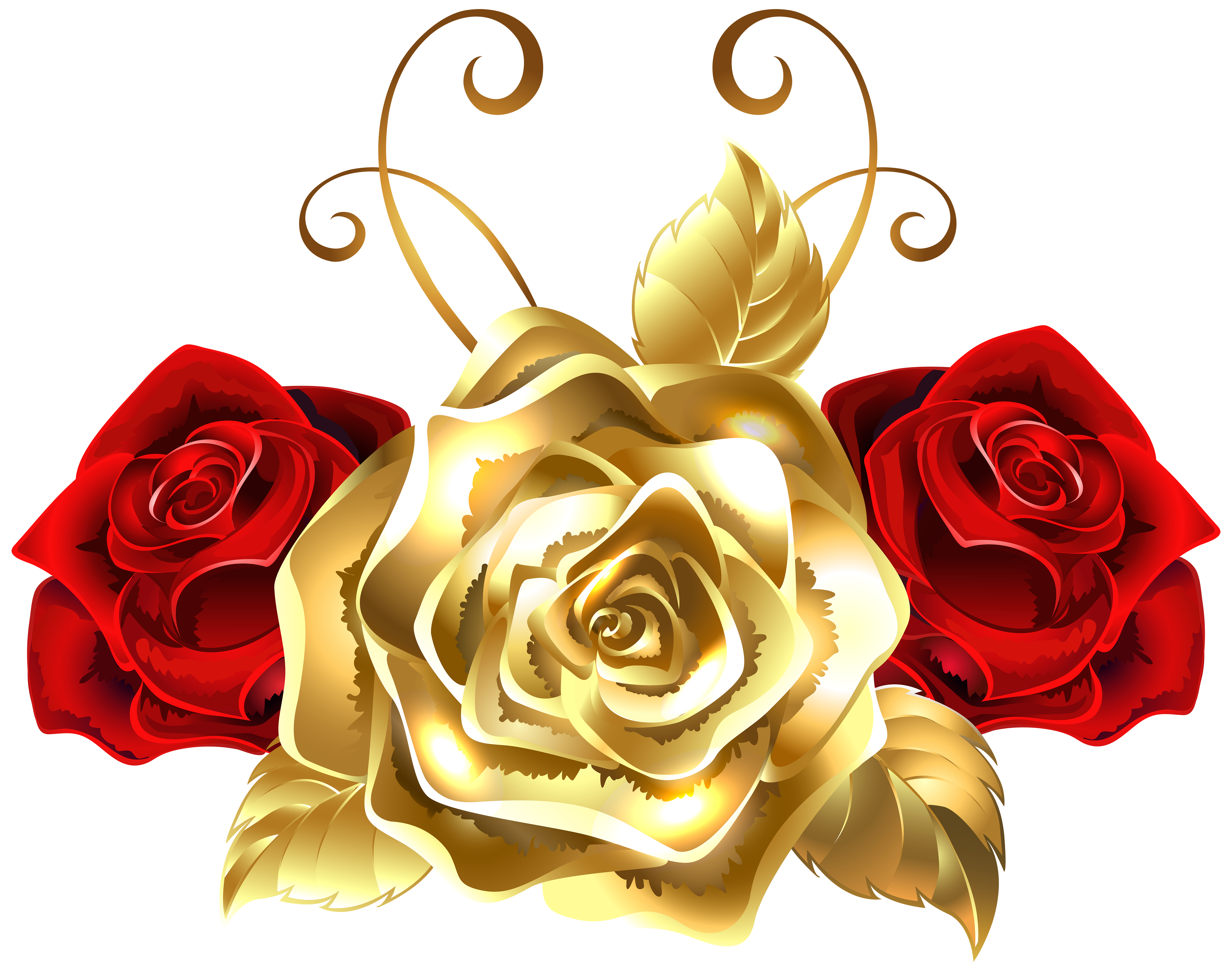 Yellow Rose clipart red #6