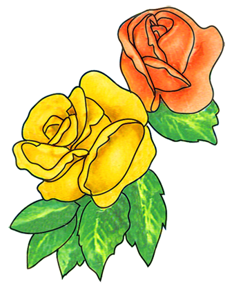 Petal clipart two Flower roses flower red two