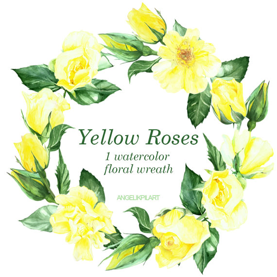Yellow Rose clipart rose painting #7