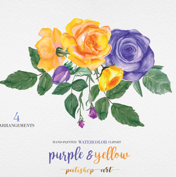 Yellow Rose clipart rose painting #10