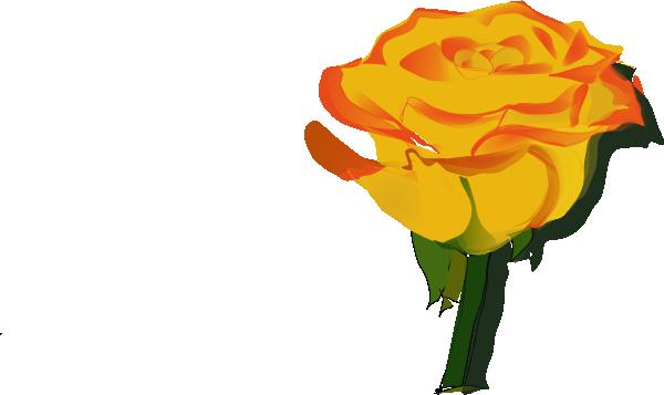 Yellow Rose clipart sweetheart Yellow art panda  border