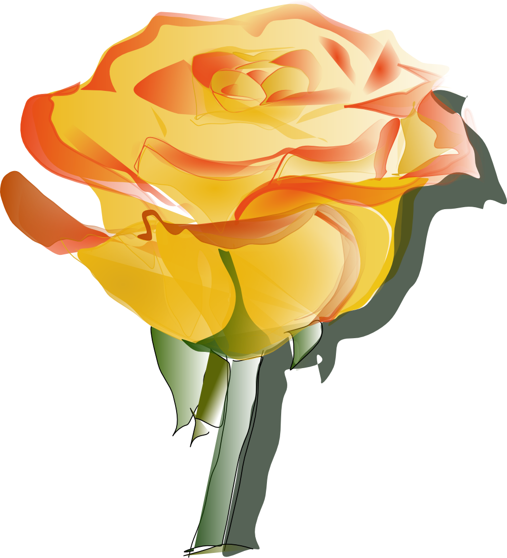 Yellow Rose clipart transparent #12