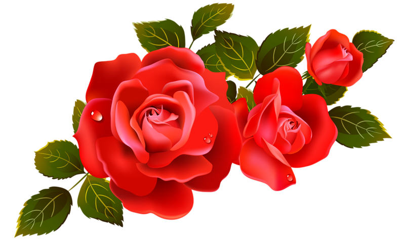 Red Flower clipart nice view #2