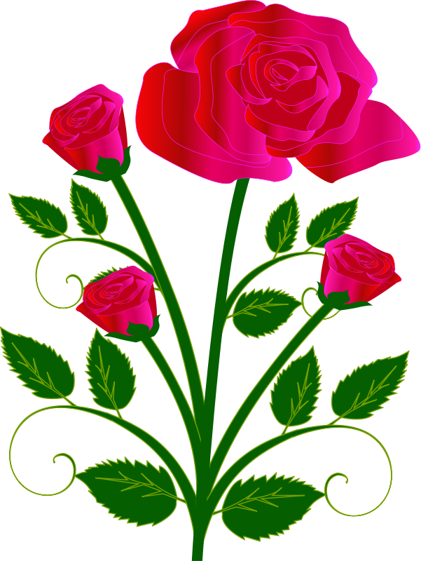 Red Flower clipart valentine rose #9