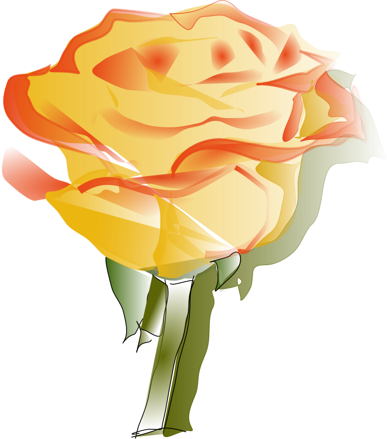 Yellow Rose clipart vector #16 Rose Yellow svg Yellow