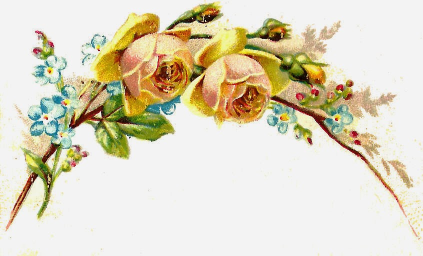 Vintage Flower clipart yellow rose And Antique Flowers Graphic: Flower
