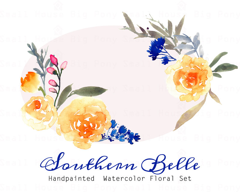 Yellow Rose clipart wedding Watercolor art Clipart yellow roses