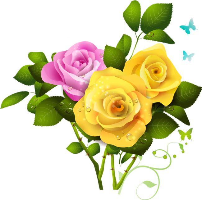 Pink Rose clipart flower bouquet 358 on best Flowers Bouquet