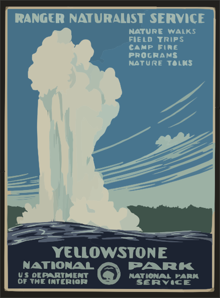 Yellowstone clipart Online public at Park domain