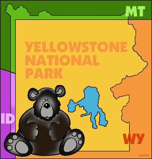 Yellowstone clipart Famous of Art by Landmarks