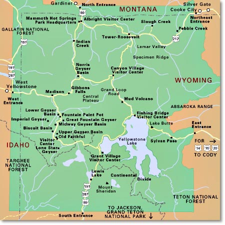 Yellowstone clipart map Park of Media National map