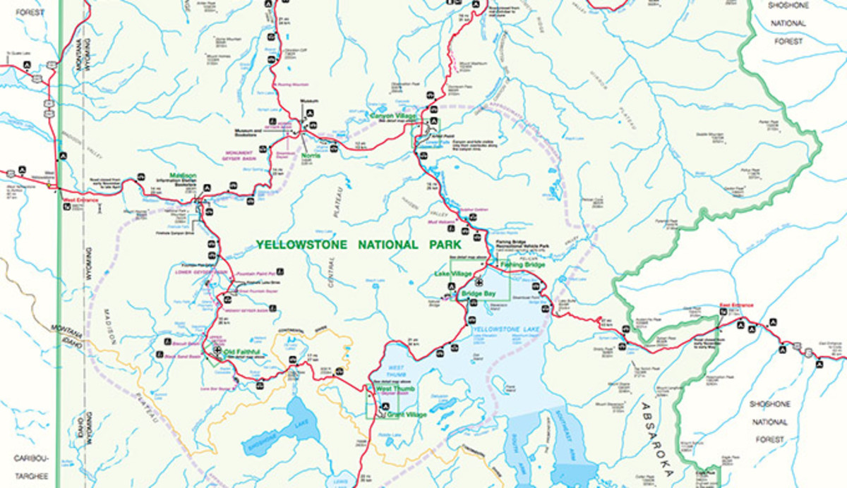 Yellowstone clipart map PID Official Archives Map