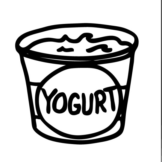 Yogurt clipart Free coloring clipart pages Yogurt