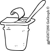 Yogurt clipart black and white Yogurt white · and