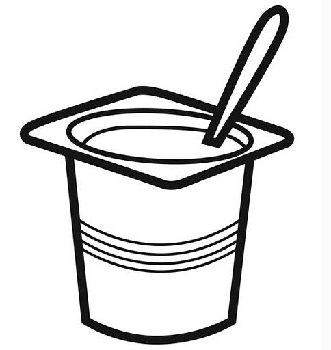 Yogurt clipart black and white Art 3 Clip yogurt Clipart