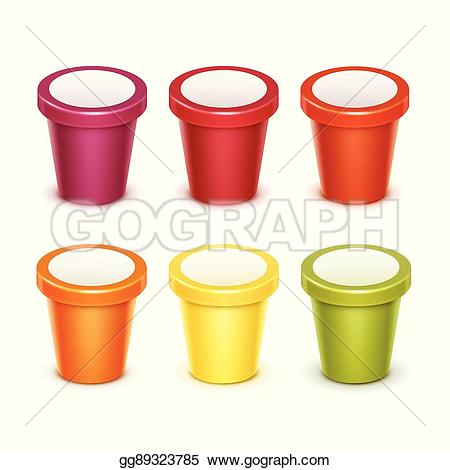 Yogurt clipart food container Food container blank fruit cream