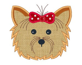 Yorkies clipart Design 5X7 Embroidery 6X10 Yorkie