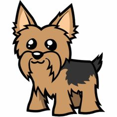 Yorkies clipart Pinterest art Search cartoon Google