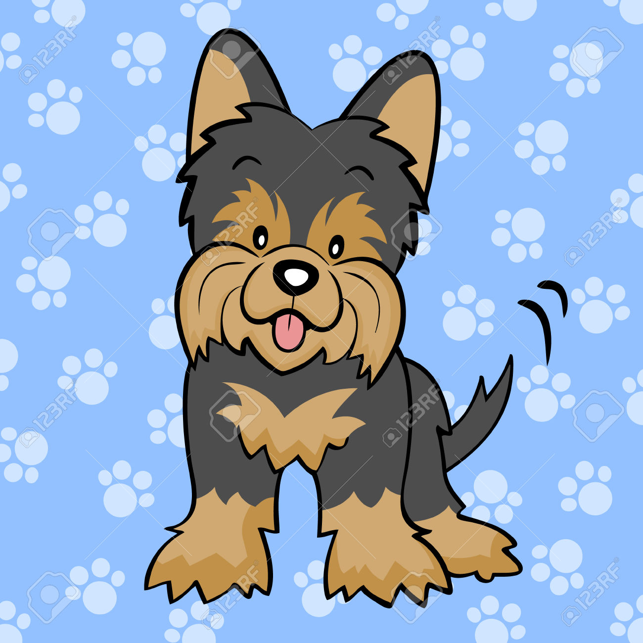 Yorkies clipart cute Terrier dog Collection Yorkie: animated