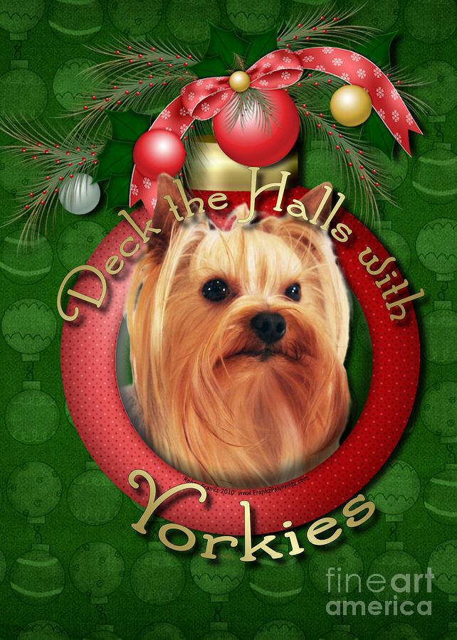 Yorkies clipart christmas WallpaperSafari Wallpaper Yorkie yorkies Christmas