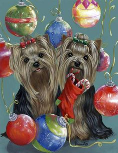 Yorkies clipart christmas For Image Yorkshire Merry that