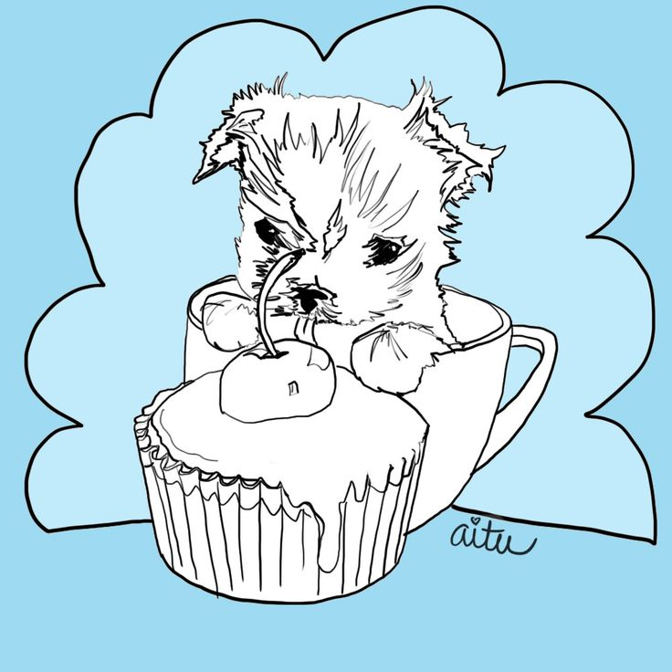 Yorkies clipart cute Yorkie Pinterest Coloring Drawing Clip