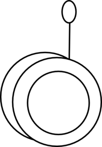 Yoyo clipart black and white Yo And White Clipart
