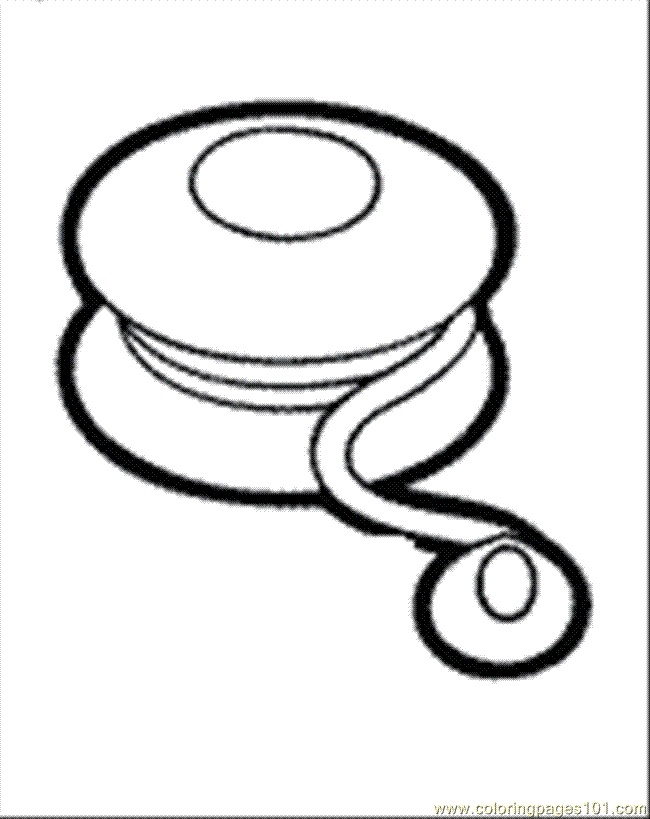Yoyo clipart black and white Images coloring 146 art best