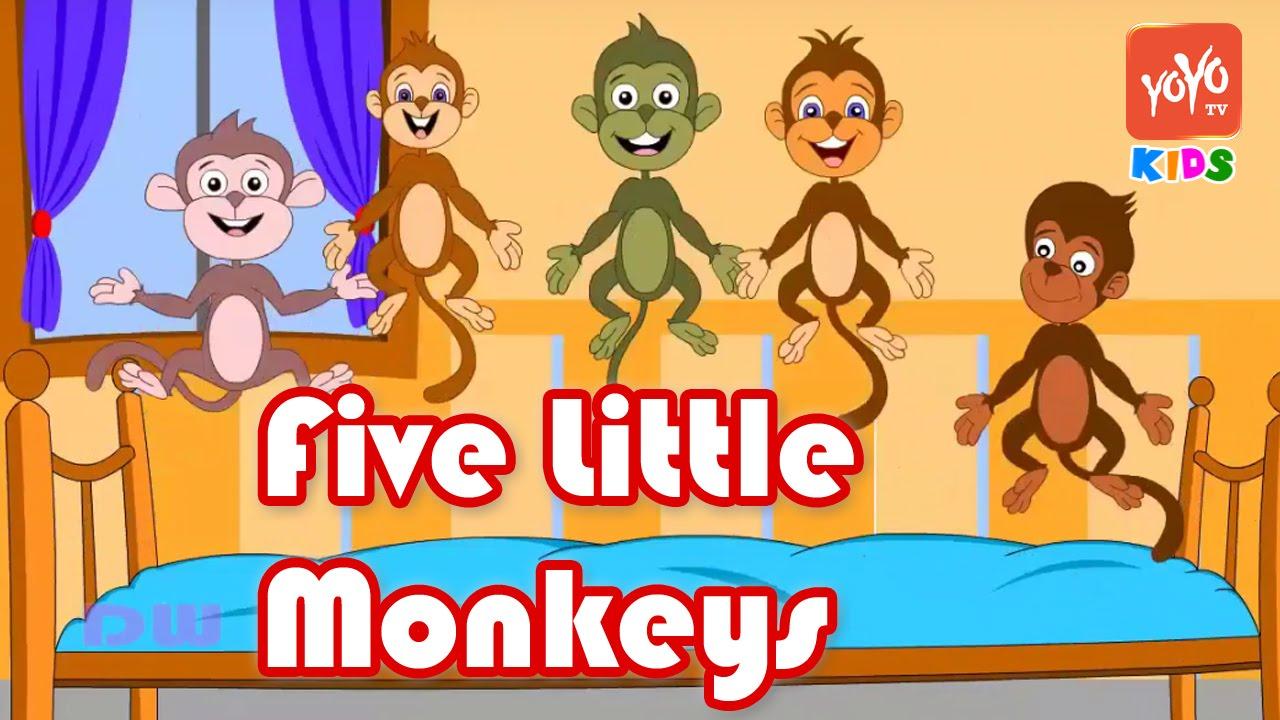 Yoyo clipart five Songs Monkeys Kids Jumping Kids