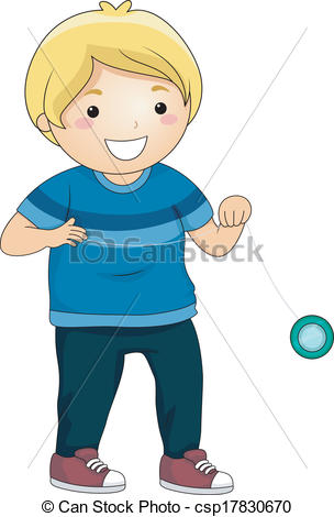 Yoyo clipart kid Csp34240916 Search Vector  Boy