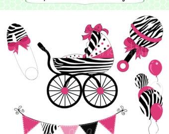 Zebra clipart baby shower Pink Clipart Zebra com Baby
