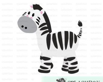 Zebra clipart baby shower Klejonka Print CLIP Clipart ZEBRA