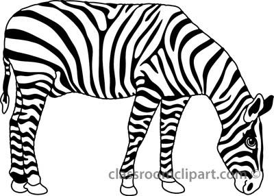 Zebra clipart big Free Clipart Black White Art