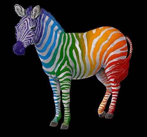 Zebra clipart colored Rainbow Animal Zebra Clipart Small