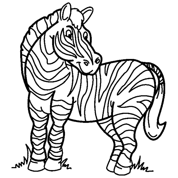 Zebra clipart colored Zebra%20coloring%20pages Clipart Clipart Zebra Coloring