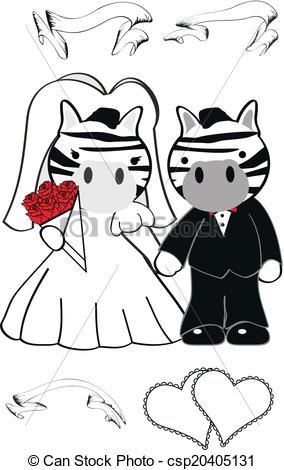 Zebra clipart easy Very married Vectors vector cartoon