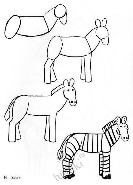 Zebra clipart easy Zebra na Více na step
